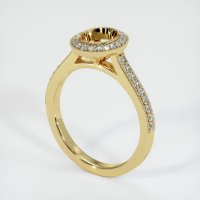 18K Yellow Gold Pave Diamond Ring Setting - JS1029Y18