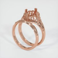 14K Rose Gold Ring Setting - JS1030R14
