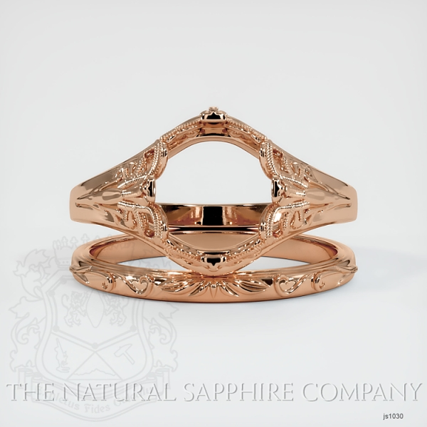 Antique Filigree Solitaire Ring Set JS1030 Image 2