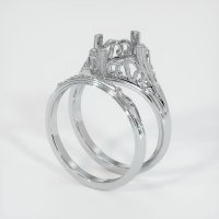 14K White Gold Ring Setting - JS1030W14