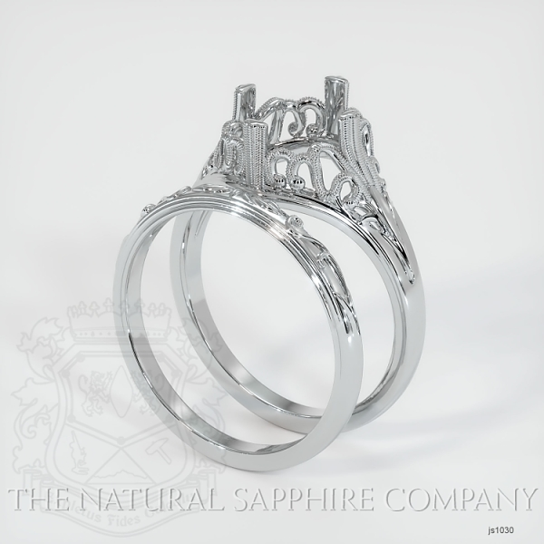 Antique Filigree Solitaire Ring Set JS1030 Image