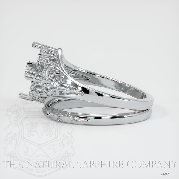 Antique Filigree Solitaire Ring Set JS1030 Image 3