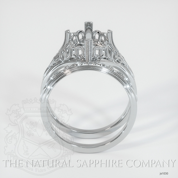 Antique Filigree Solitaire Ring Set JS1030 Image 4