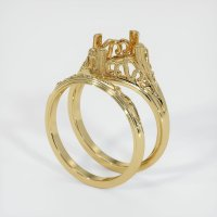 14K Yellow Gold Ring Setting - JS1030Y14