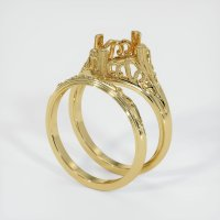 18K Yellow Gold Ring Setting - JS1030Y18