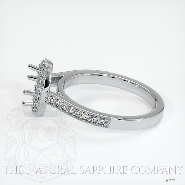 4 Prong Pave Ring Setting JS1032 Image 3