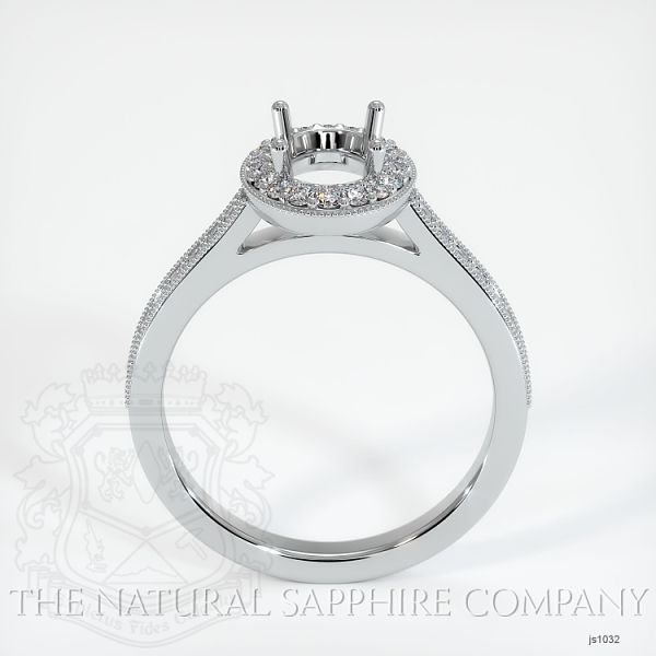 4 Prong Pave Ring Setting JS1032 Image 4