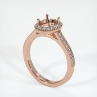 14K Rose Gold Pave Diamond Ring Setting - JS1032R14