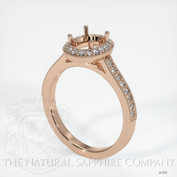4 Prong Pave Ring Setting JS1032 Image