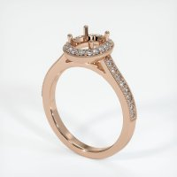 18K Rose Gold Pave Diamond Ring Setting - JS1032R18