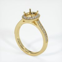 18K Yellow Gold Pave Diamond Ring Setting - JS1032Y18