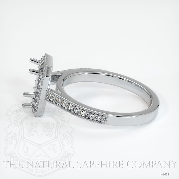 4 Prong Pave Ring Setting JS1033 Image 3