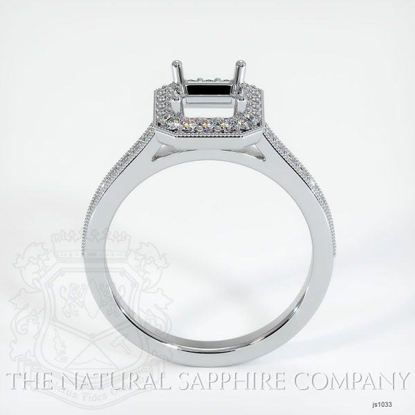 4 Prong Pave Ring Setting JS1033 Image 4