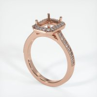 14K Rose Gold Pave Diamond Ring Setting - JS1033R14