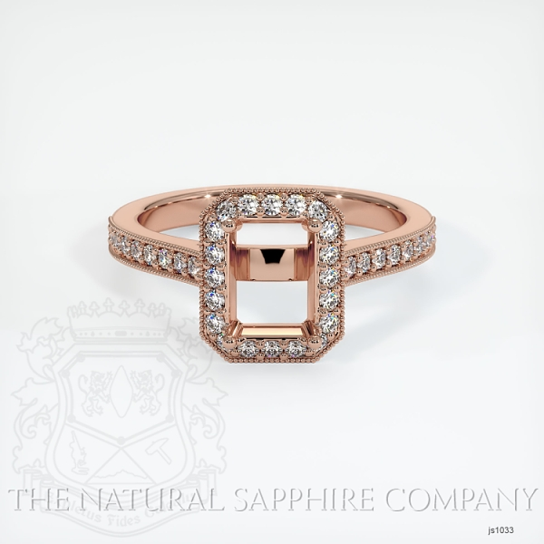 4 Prong Pave Ring Setting JS1033 Image 2