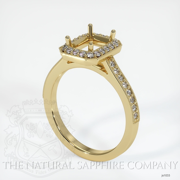 4 Prong Pave Ring Setting JS1033 Image
