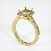 18K Yellow Gold Pave Diamond Ring Setting - JS1033Y18