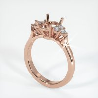 14K Rose Gold Ring Setting - JS1034R14
