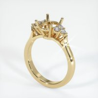 18K Yellow Gold Ring Setting - JS1034Y18