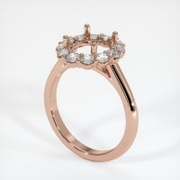 14K Rose Gold Ring Setting - JS1035R14