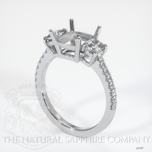 4 Prong Multi Stone Ring Setting JS1037 Image