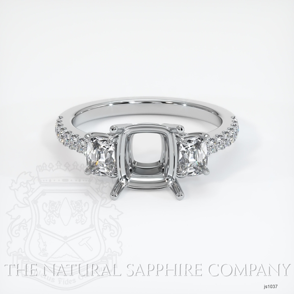 4 Prong Multi Stone Ring Setting JS1037 Image 2