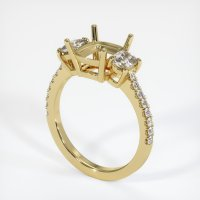 18K Yellow Gold Pave Diamond Ring Setting - JS1037Y18