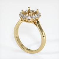 14K Yellow Gold Ring Setting - JS1038Y14