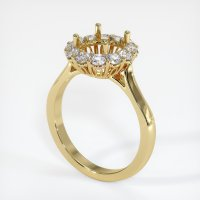 18K Yellow Gold Ring Setting - JS1038Y18