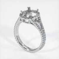 18K White Gold Pave Diamond Ring Setting - JS1039W18
