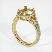 18K Yellow Gold Pave Diamond Ring Setting - JS1039Y18