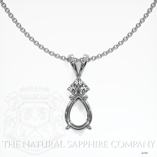 4 Prong With 3 Diamonds Pendant Setting JS104 Image