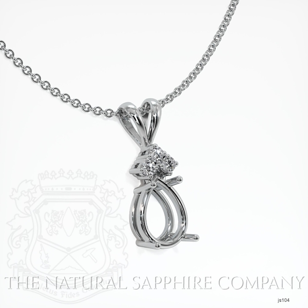 4 Prong With 3 Diamonds Pendant Setting JS104 Image 2