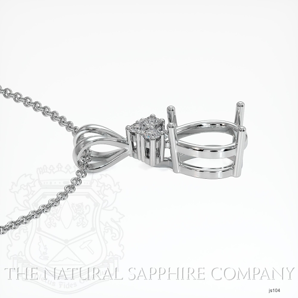 4 Prong With 3 Diamonds Pendant Setting JS104 Image 3