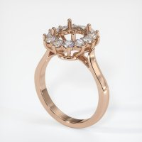 18K Rose Gold Ring Setting - JS1040R18