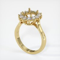 18K Yellow Gold Ring Setting - JS1040Y18
