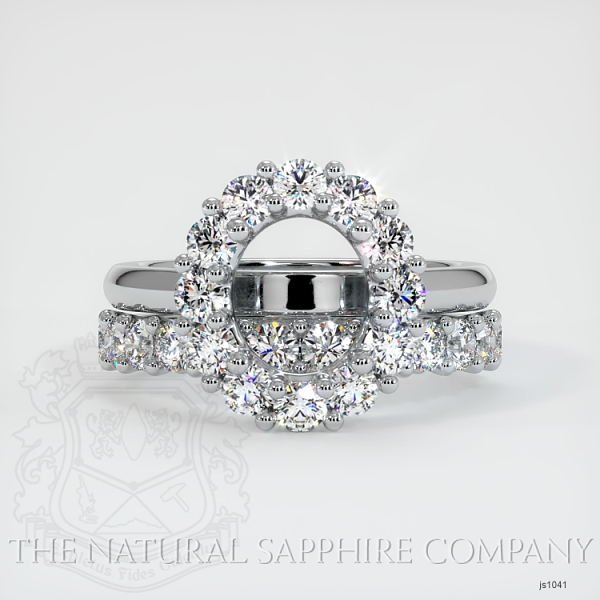 4 Prong Diamond Cluster Ring Set JS1041 Image 2