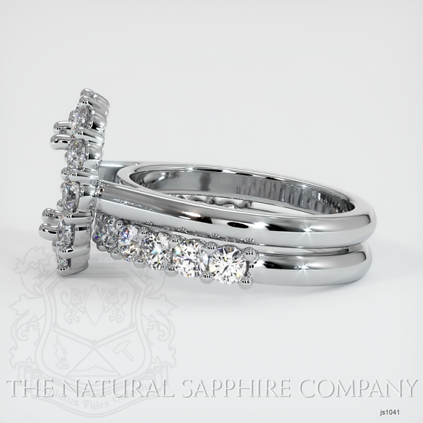 4 Prong Diamond Cluster Ring Set JS1041 Image 3