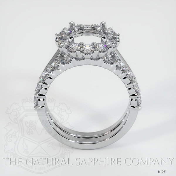 4 Prong Diamond Cluster Ring Set JS1041 Image 4