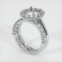 14K White Gold Ring Setting - JS1041W14
