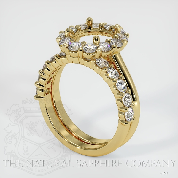 4 Prong Diamond Cluster Ring Set JS1041 Image