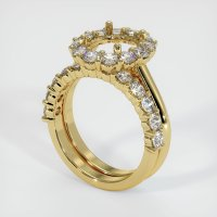 18K Yellow Gold Ring Setting - JS1041Y18