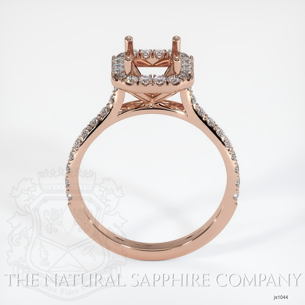 Pave Diamond Halo Ring Setting JS1044 Image 4