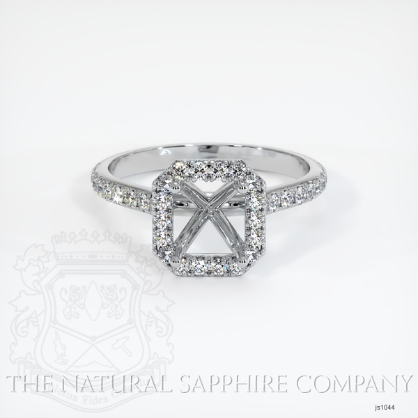 Pave Diamond Halo Ring Setting JS1044 Image 2