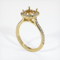 18K Yellow Gold Pave Diamond Ring Setting - JS1044Y18