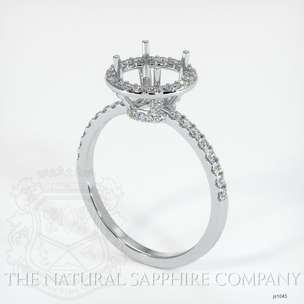 Scoop Cut Pave Diamond Halo Setting JS1045 Image