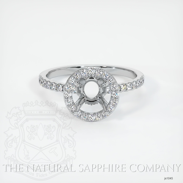 Scoop Cut Pave Diamond Halo Setting JS1045 Image 2