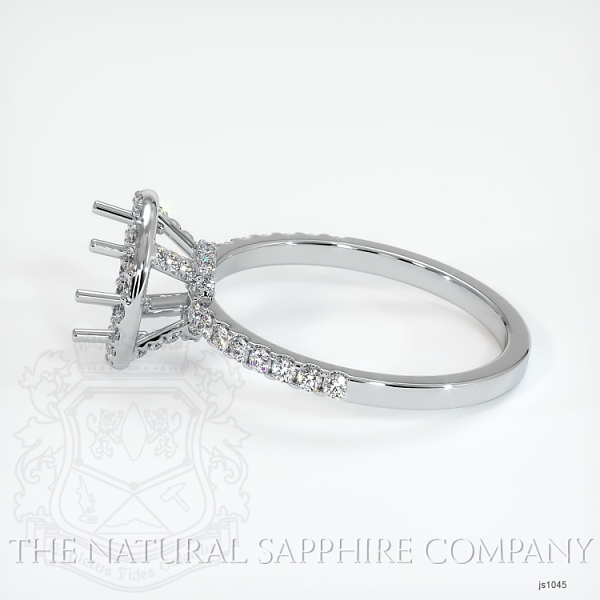 Scoop Cut Pave Diamond Halo Setting JS1045 Image 3