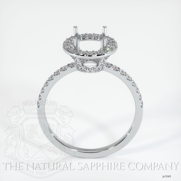 Scoop Cut Pave Diamond Halo Setting JS1045 Image 4