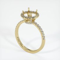 14K Yellow Gold Pave Diamond Ring Setting - JS1045Y14